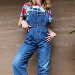VTG youth medium wash denim overalls